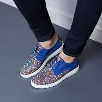 Pantofi dama Piele Iustina multicolori tip casual