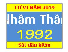Tử Vi Tuổi Nhâm Thân 1992 Năm 2019 Nam Mạng - Nữ Mạng