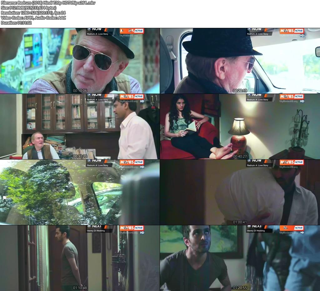 Redrum 2018 Hindi 720p HDTVRip x264 | 480p 300MB | 100MB HEVC Screenshot