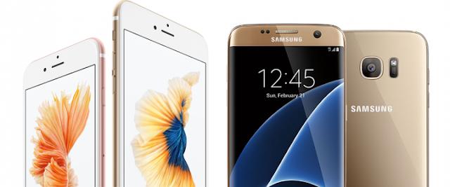 """مقارنة بين هاتف """"IPhon 7 Plus"""" و هاتف """"Galaxy S7 Edge"""""""