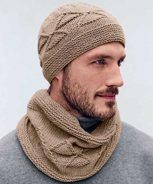 Men's Hat & Cowl - Free Pattern