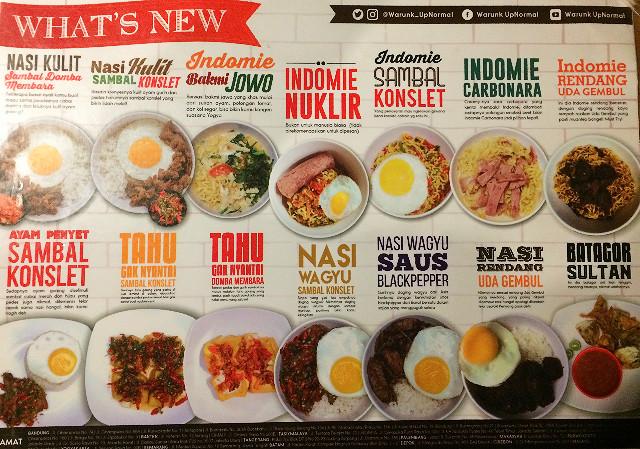 menu warung upnormal