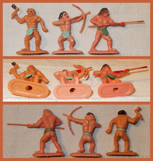 2 Prehistoric Made In Hong Kong Swoppet Cave Man Cavemen Plastic Toy Figures-001 Cave Man; Cavemen; Made in Hong Kong; Prehistoric; Small Scale World; smallscaleworld.blogspot.com; gum-ball machine, capsule-prizes Swoppets, Plastic Figures