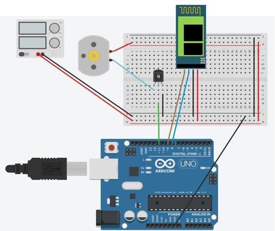Circuito Bluetooth Casero : Circuito motor dc arduino impremedia