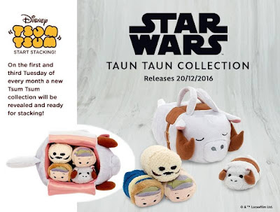 Star Wars Taun Taun Tsum Tsum Collection - Han Solo in Hoth Gear, Luke Skywalker in Hoth Gear, Taun Taun & Wampa