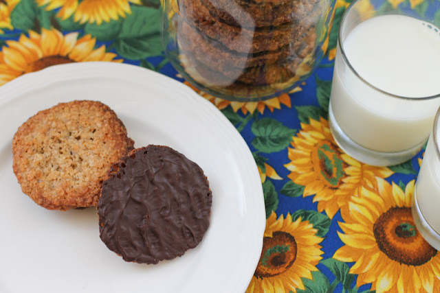 Food Lust People Love: Kakor Chokladflarn or IKEA chocolate oatmeal cookies are a special treat we usually buy at that famous Swedish superstore but they are really quite easy to make at home. The bonus, of course, is that you know exactly what is in these. (Read: no palm oil or odd additives.) These delectable delights are crispy thin oatmeal cookies with dark chocolate sandwiched between them. In my copycat version, I leave them single file. You get more dark chocolate with each bite that way. Which is always a good thing.