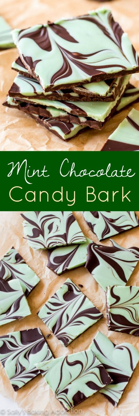 Mint Chocolate Swirl Bark.