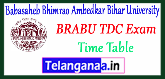 BRABU Babasaheb Bhimrao Ambedkar Bihar University Bihar UG Part I II III Exam Time Table 2018
