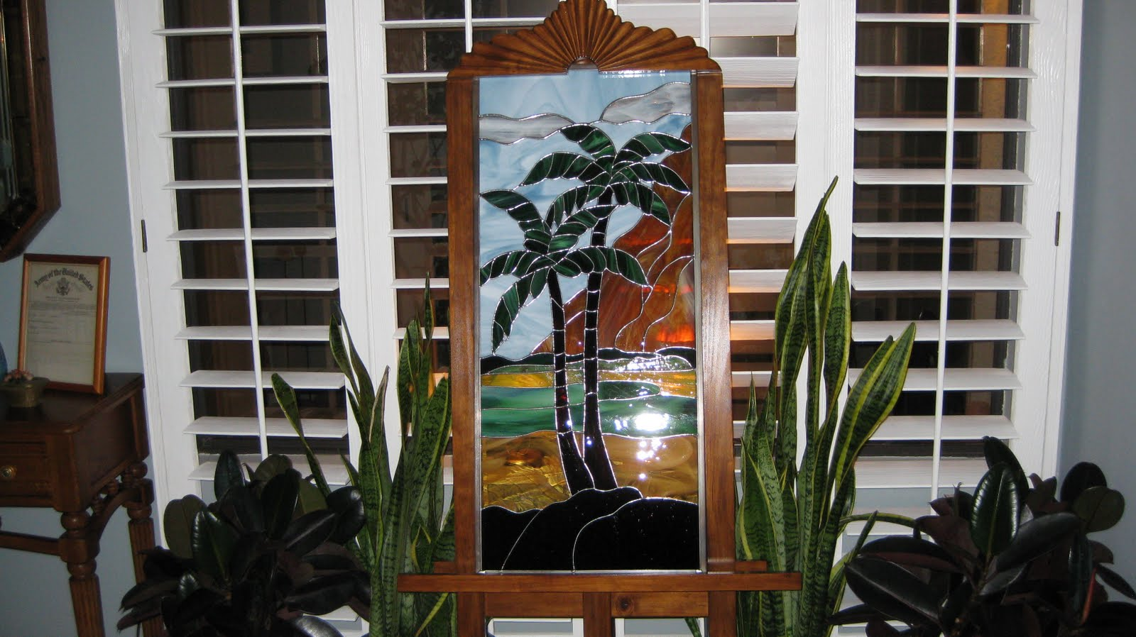 Stained Glass Craftsmen Lor S Stained Glass Palm Trees