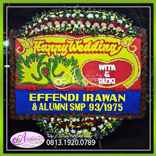Toko Bunga Papan Happy Wedding BPWD-006