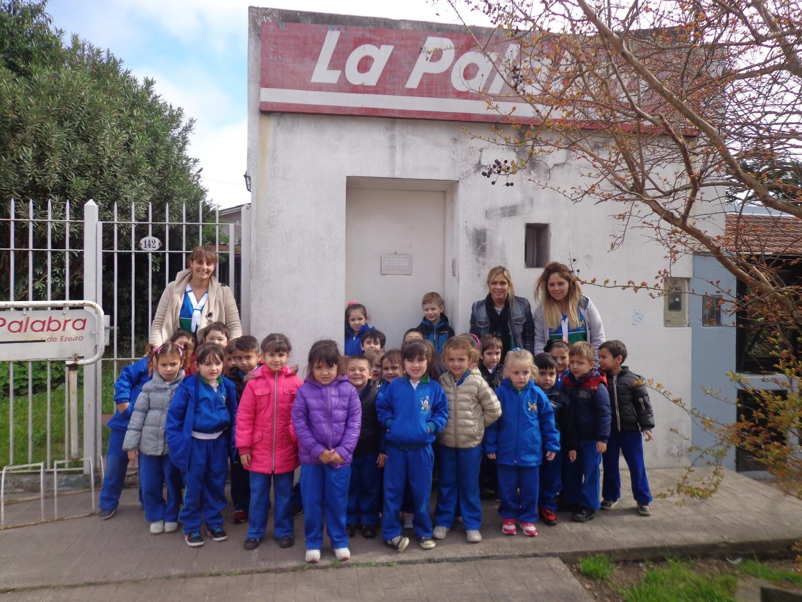 José María Marcos: Con alumnos del Eco Jardín de Canning