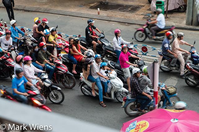 motorbikes in HCM Vietnam