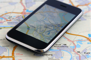 iPhone and Map