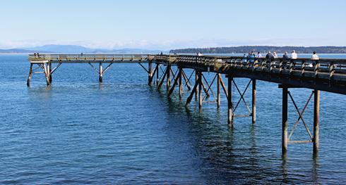 Sidney Pier BC Vancouver Island