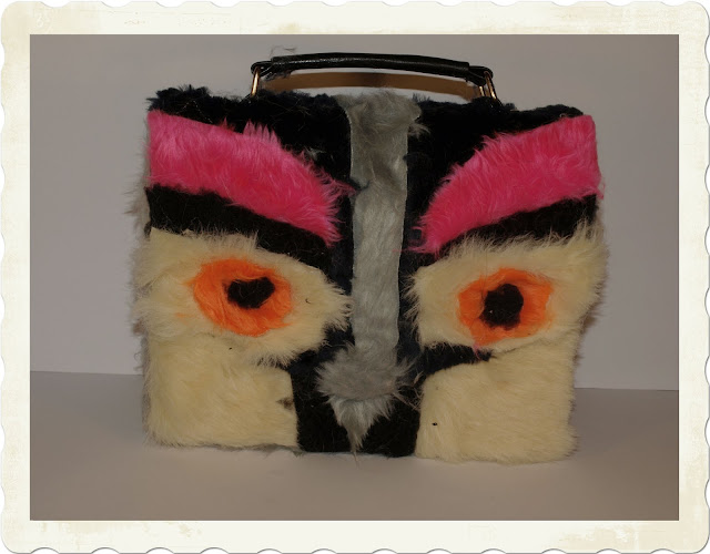 DIY Fendi fur owl satchel