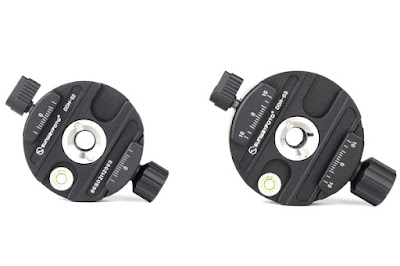 Sunwayfoto DDH-02 and DDH-03 Panning Clamps comparison - top