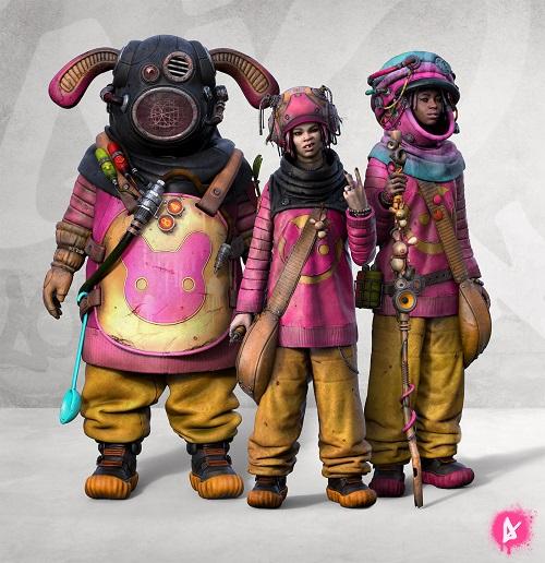 """OOMOU"" characters by Andy Lee | imagenes chidas de arte digital, personajes de novela grafica, comic y kawaii"