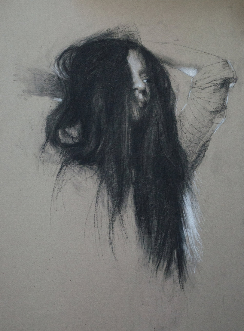 11-Tousled-Casey-Childs-Charcoal-Portrait-Drawings-that-Capture-our-Essence-www-designstack-co