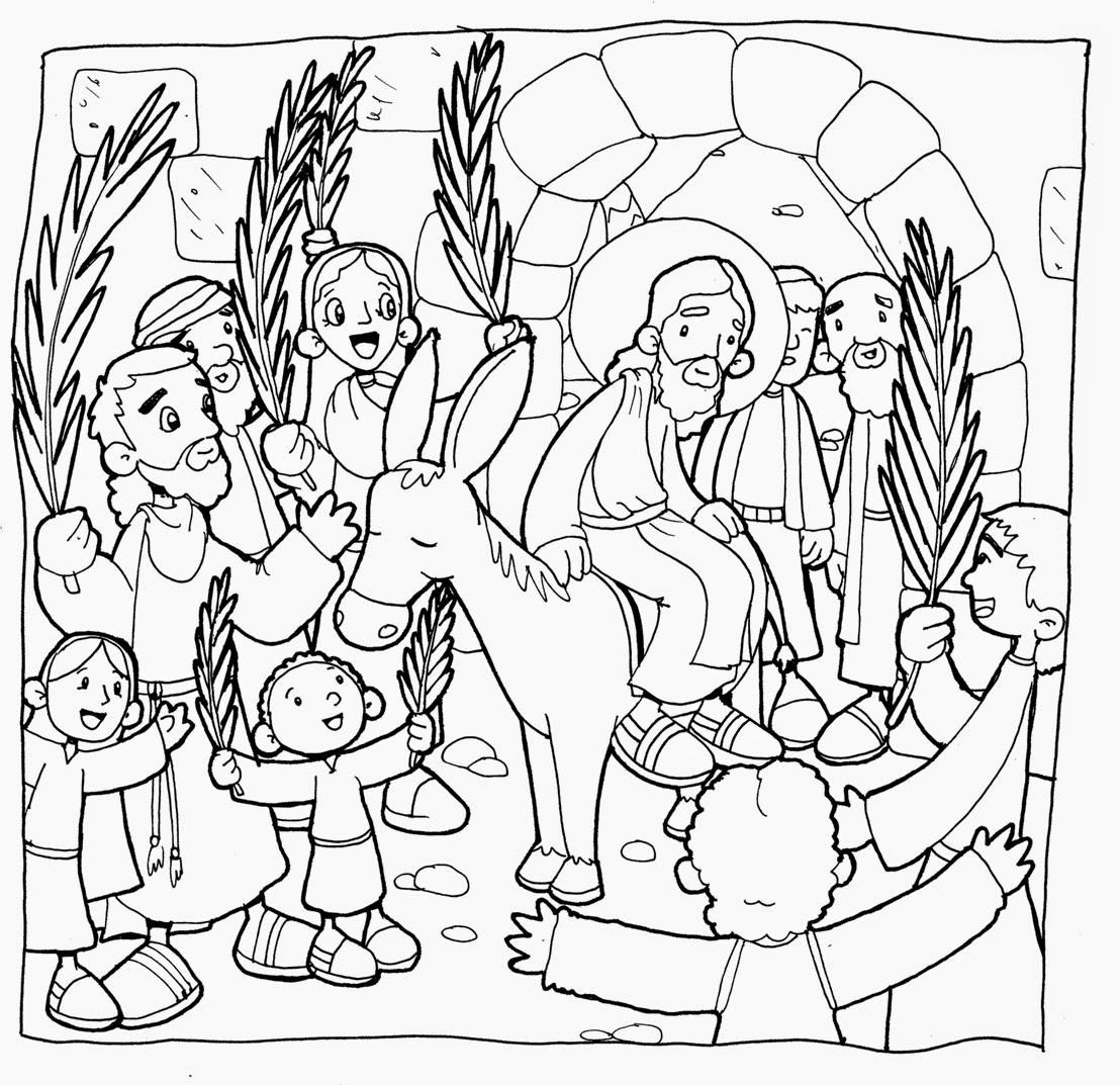 Dibujos Domingo de Ramos para colorear ~ Dibujos para Niños