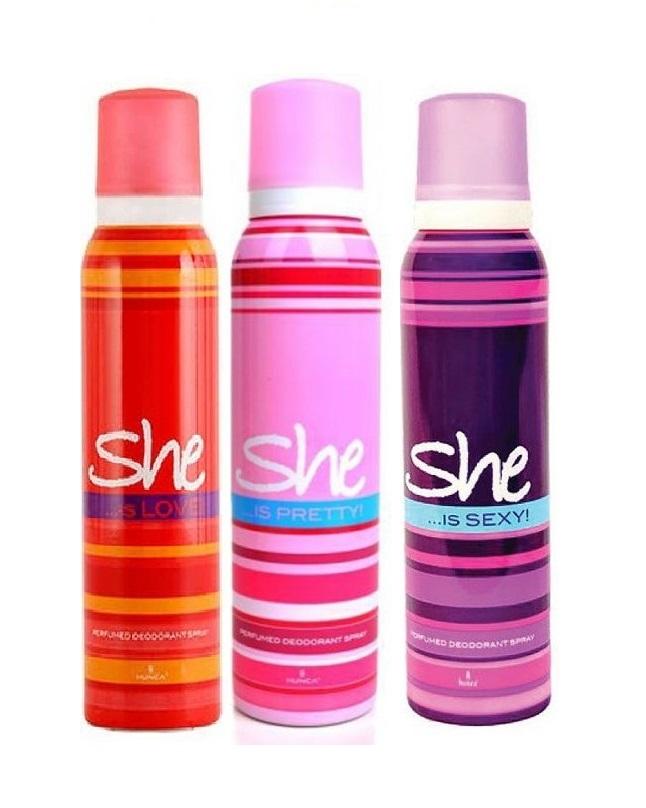 Pack Of 3 - She Deodorant 75 ml