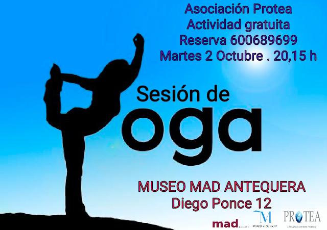 Sesiones de relajación y yoga en el MAD de Antequera