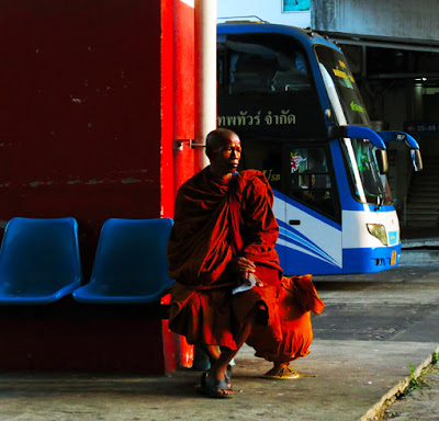 Buddhist Monk Travel in Thailand