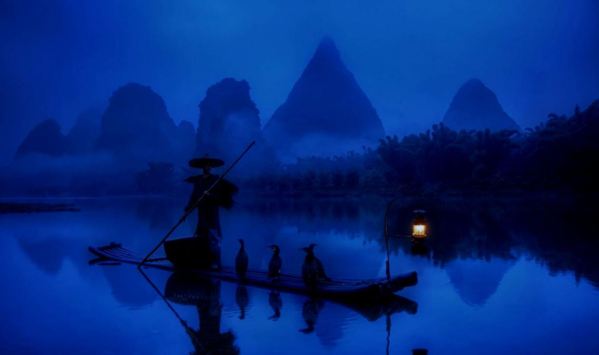 Wallpapers Tagged With Rive China Lantern Rive Fisherman
