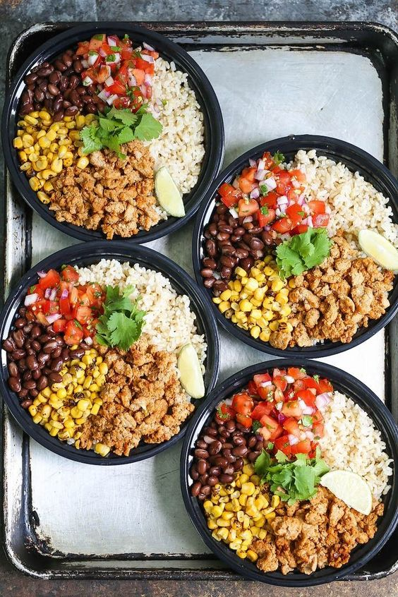 This chicken burrito bowl meal prep recipe is the healthier and cheaper version of a Chipotle bowl.