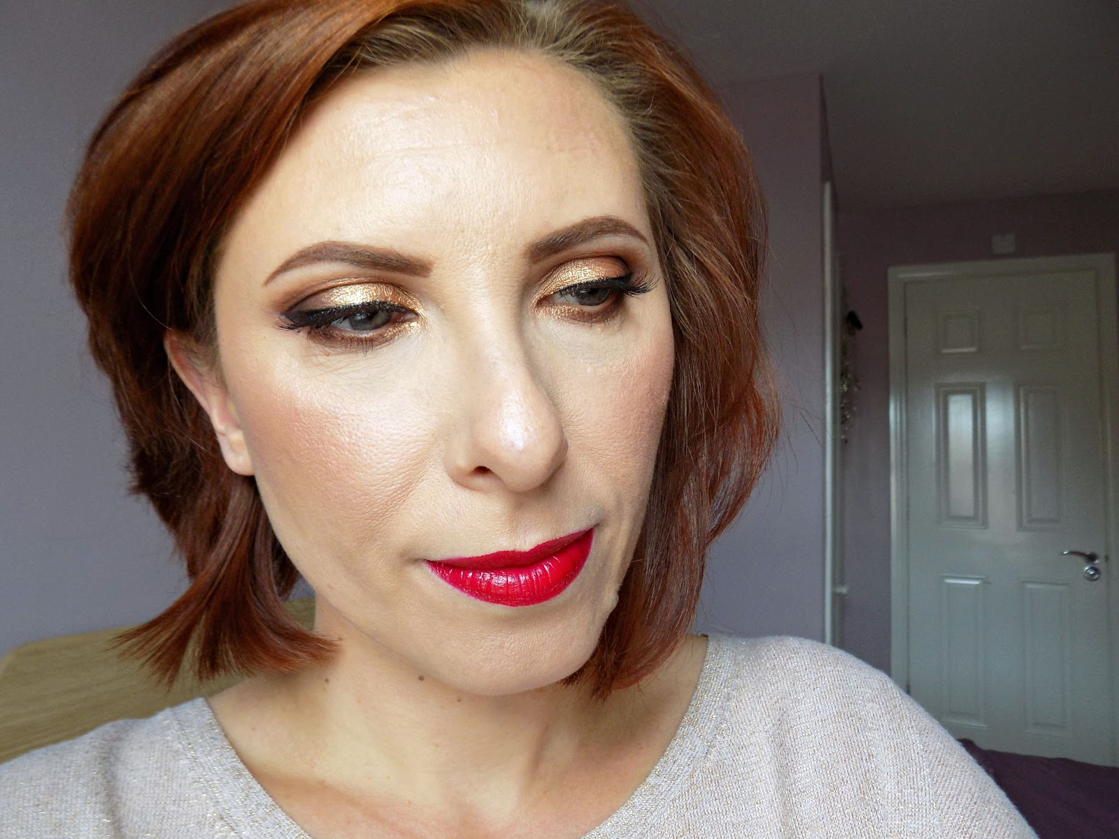 Makeup Look 25 Summery Bronze Eyes And Red Lips Mummys Beauty Corner