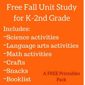 Fall Unit Study and Free Printables
