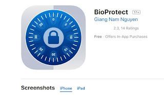 تطبيق bioprotect قفل البرامج للايفون