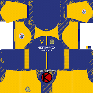 Al-Nassr FC 2018-2019 ACL Kit - Dream League Soccer Kits