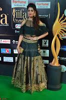 Ritika Singh in a Ethnic Deep Neck Dark Green Choli Ghagra at IIFA Utsavam Awards March 2017 ~ 014.JPG