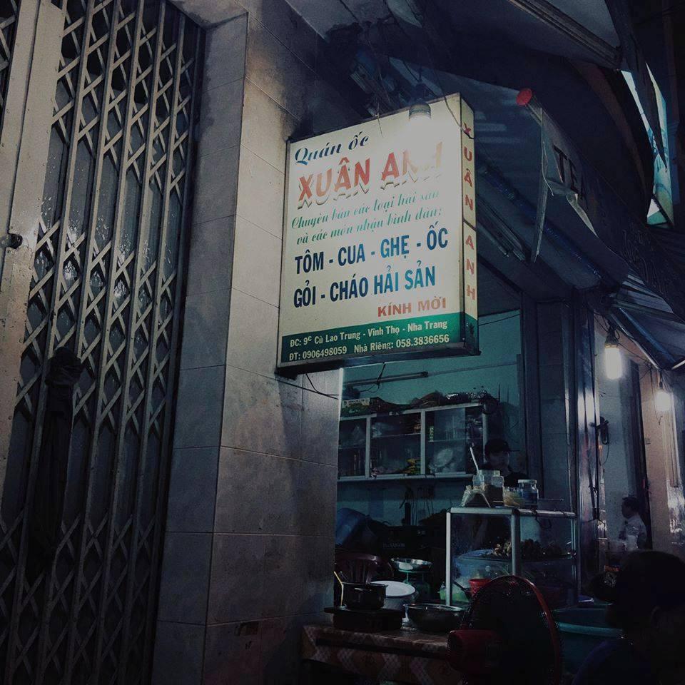 Hình ảnh quán ốc Xuân Anh Nha Trang