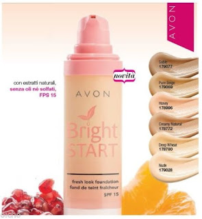 Fondotinta Bright Start di Avon. Catalogo Avon.it e ordini Online. Presentatrice Avon Italia. Scopri come ordinare,  acquistare e comprare Avon.  Spedizione GRATIS a partire di 35€ di ordine! Guarda le prossime date di ordinazione e spedizione della campagna in corso.