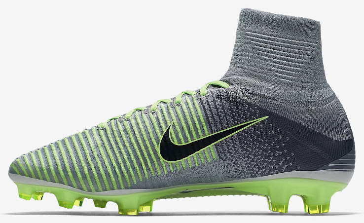 sports shoes a0f1f 58a1d The heightened Dynamic Fit collar and the laces of the new Nike Mercurial  Superfly V 2016 cleats are colored in dark grey as well.