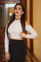 Manjusha in sleevelss crop top and black skirt at Darshakudu pre release ~  Exclusive Celebrities Galleries 099.JPG