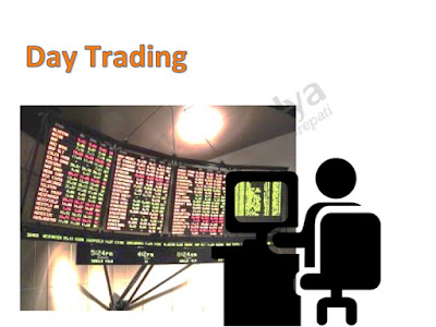 Day Trader glued to the trading screen