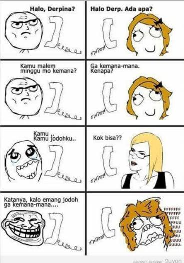 10 Meme Gombalan Derp ke Derpina Ini Kocak Banget, Leh Uga!