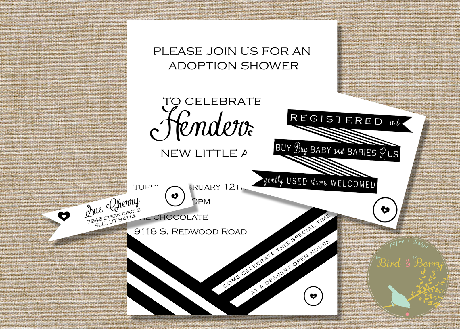 Black & White Invitation Printable