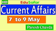 Current Affairs 7 to 9 May 2017 Video