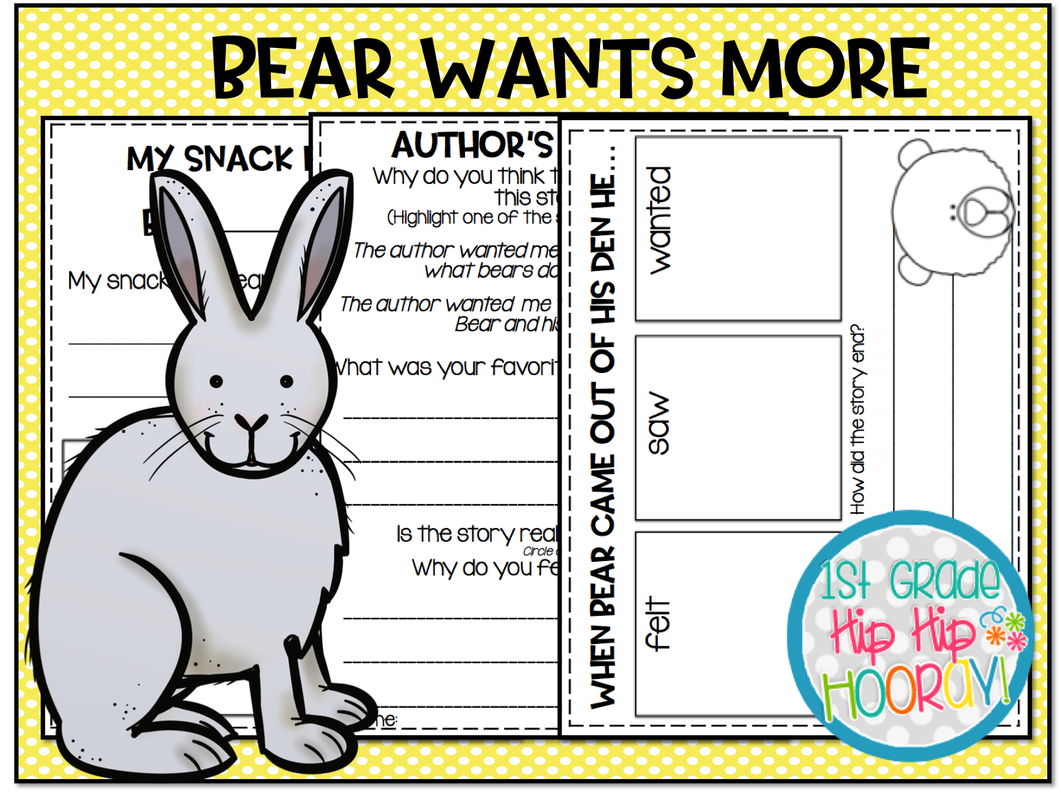 1st Grade Hip Hip Hooray Spring Literacy Suggestion