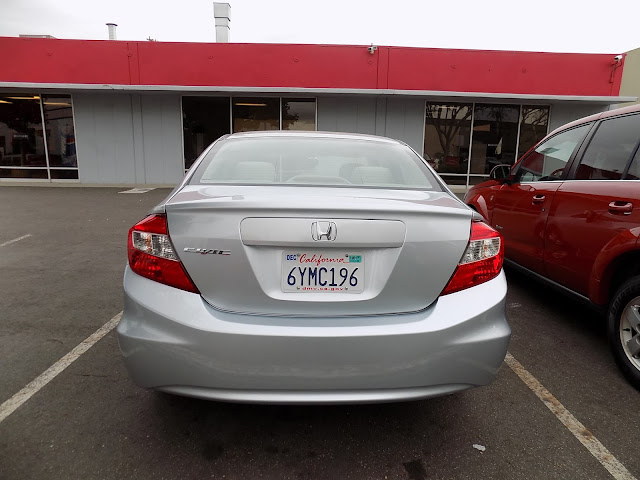 Honda Civic after auto body repairs at Almost Everything Auto Body.