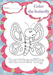 butterfly coloring for saltation as well as summertime activities