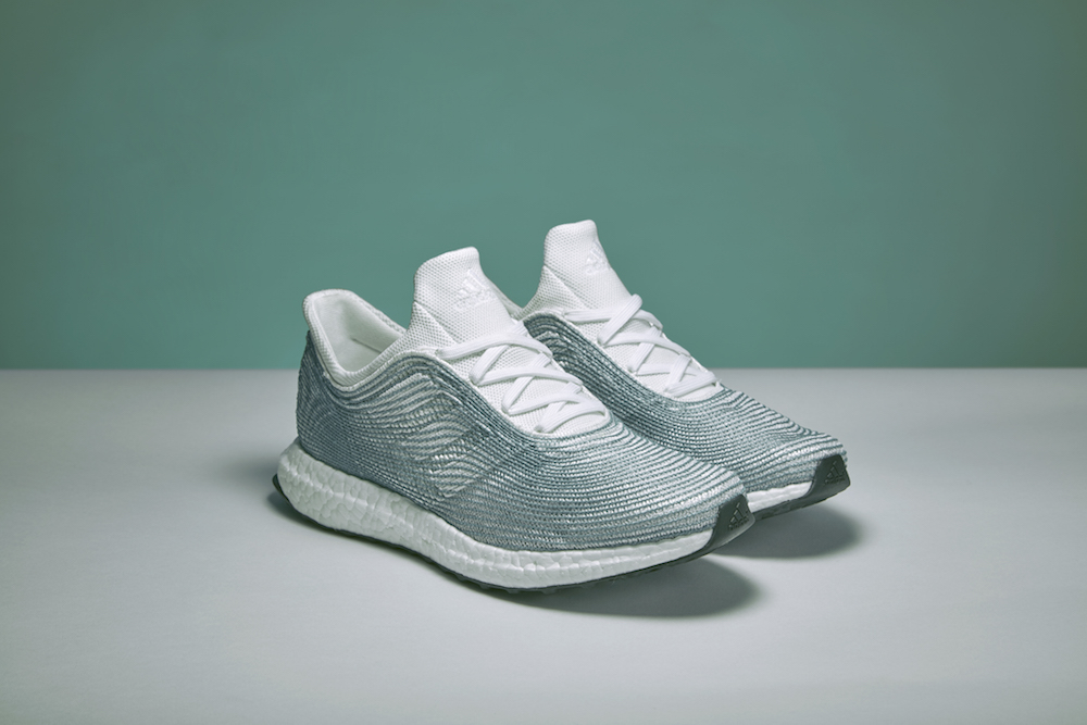 Stitched with thread produced from discarded fishing nets, Adidas' newest  shoes are a collaboration with the ocean activist collective and company  Parley ...