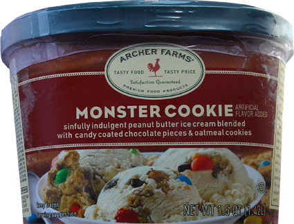 Target Archer Farms Monster Cookie Ice Cream Review