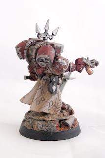 Ashen Circle Raptor Chaos Marines champion with power axe and combi flamer pistol
