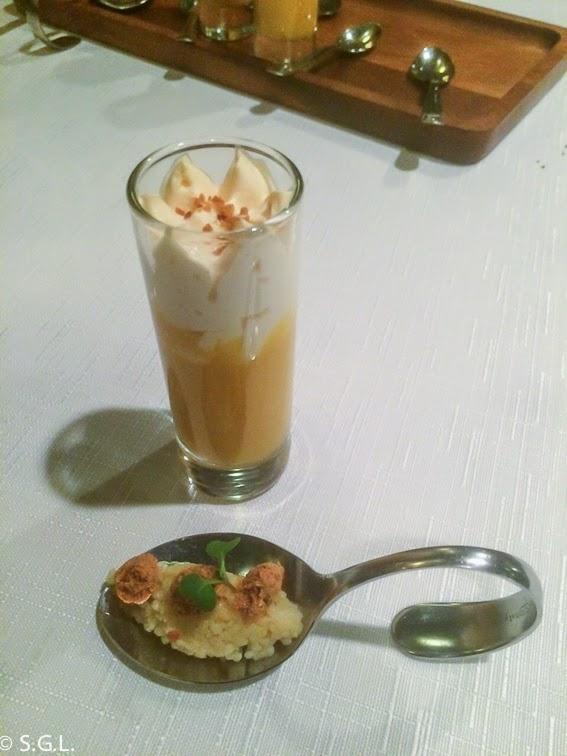 Aperitivo del restaurante Yandiola en Bilbao