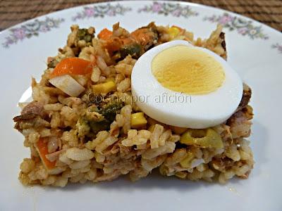 ensalada de arroz tierra mar
