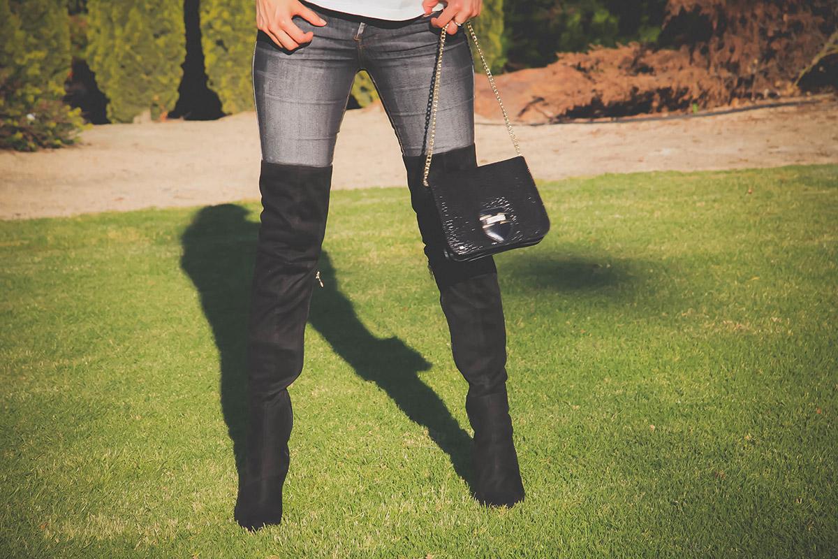botas arriba de la rodilla